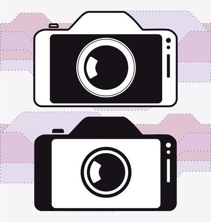 Smartphone cellphone photo camera icon vector template