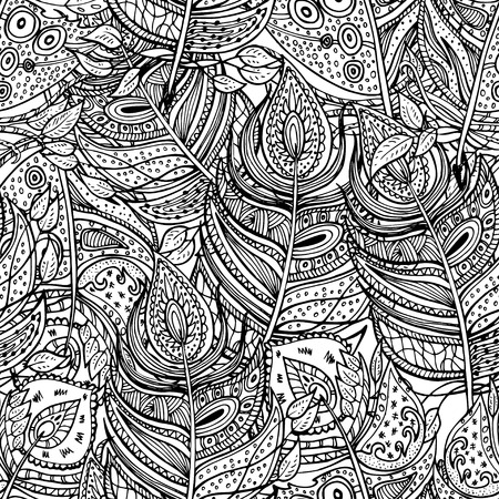 Vector colorless seamless pattern