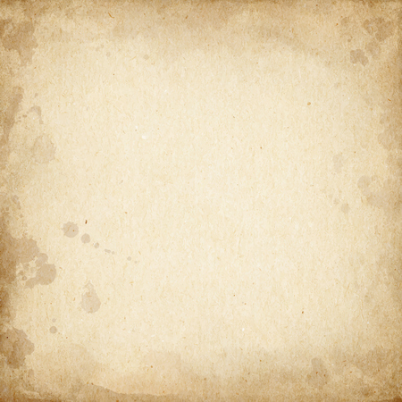 Realistic brown cardboard stained texture.