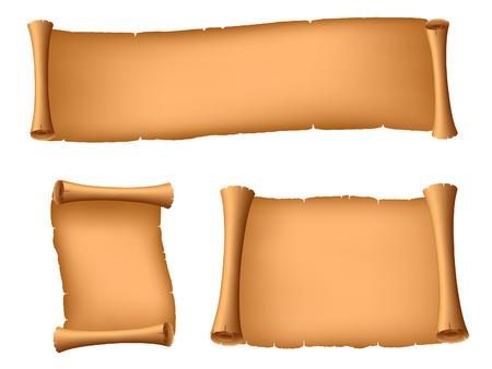 Set of ancient scrolls.