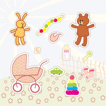 collection of kids stickers