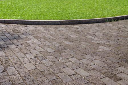 Flagstone floors and grassland