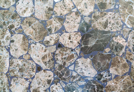 Photo for Stone floor made of colorful granite mosaics - Royalty Free Image