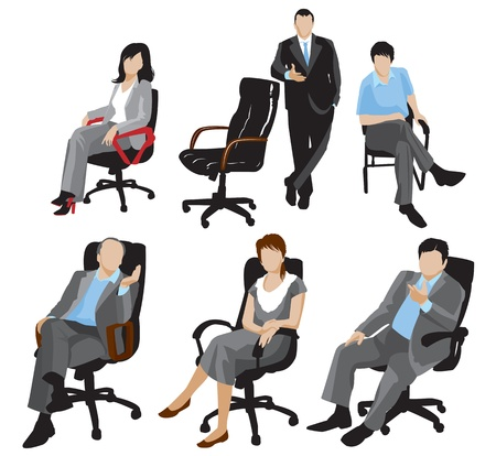 Illustration for business people silhouettes - Royalty Free Image