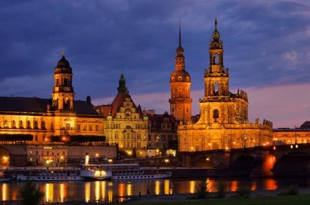 Dresden Catholic Court Church night