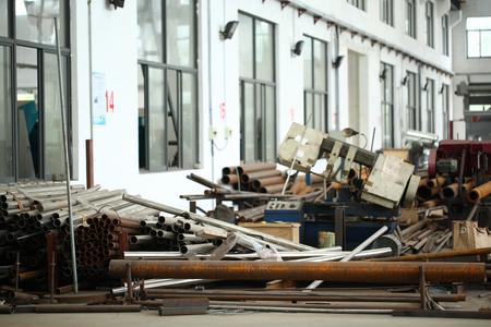 Photo pour Factory steel scrap - image libre de droit
