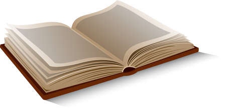 Illustration pour Vector isolated opened book on white background. - image libre de droit