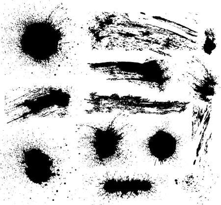 Illustration for Vector set of grunge elements. - Royalty Free Image