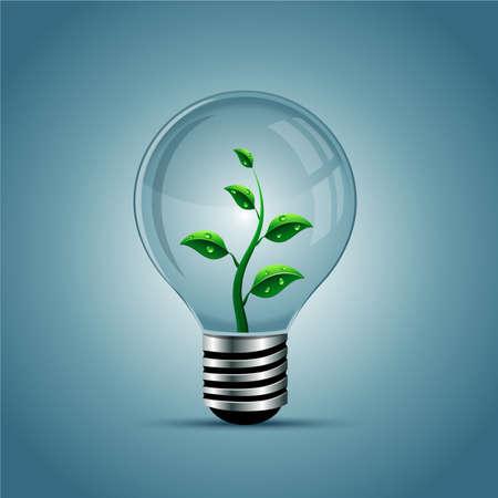 Illustration pour Vector light bulb, eco concept - image libre de droit