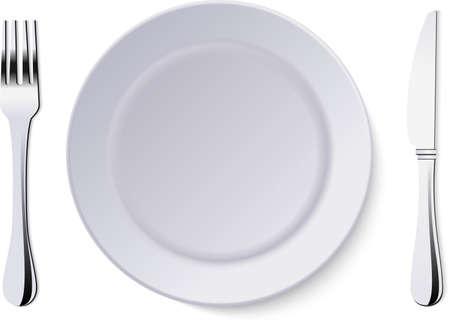 Illustration pour Vector plate isolated on white background. - image libre de droit