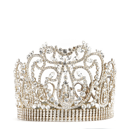 crown or tiara isolated on a white background
