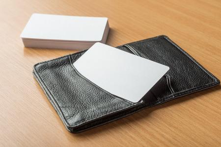 Photo pour Business cards blank mockup - template - image libre de droit