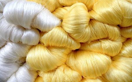 Hand made raw silk thread