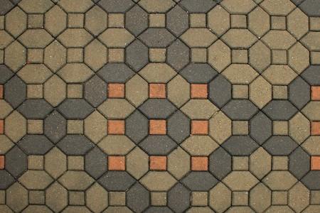 Bricks stones of the pavement