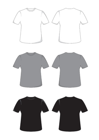 Front and back views of a t-shirt