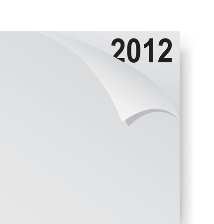 Paper corner with year 2012