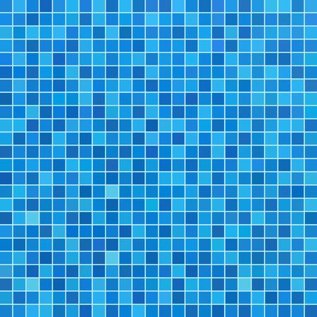 Illustration pour Blue ceramic tile mosaic in swimming pool - image libre de droit