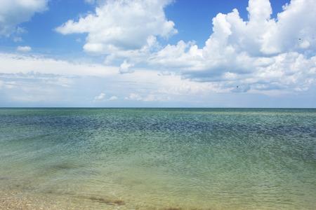 calm sea, sea and perfect sky. Beautiful beach