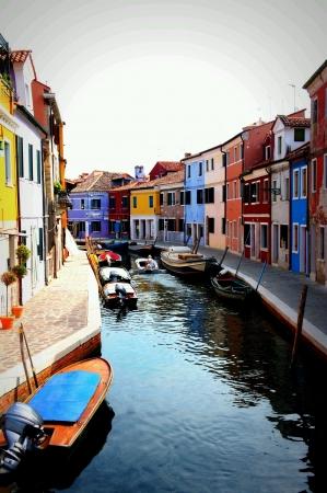 Colorful Burano Island in Venice Italy