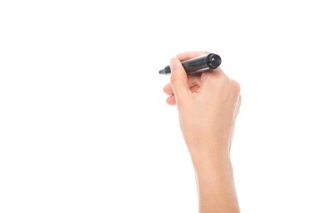 Photo pour hand holding marker - image libre de droit