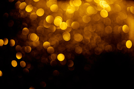 Photo for abstract decorative background with blurred golden glitter - Royalty Free Image