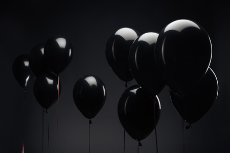 Photo for background with festive balloons for black friday - Royalty Free Image