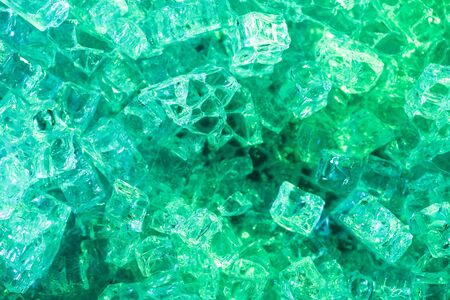 Photo pour top view of abstract green ice textured background - image libre de droit