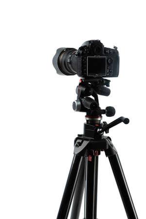 Photo pour photo camera on tripod isolated on white - image libre de droit