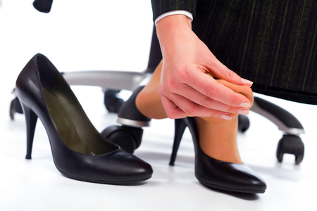 Wearing high heel shoes has its painful disadvantages - hurting feet, sole.