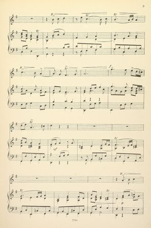 Old yellowed sheet music for piano and vocals, no lyrics