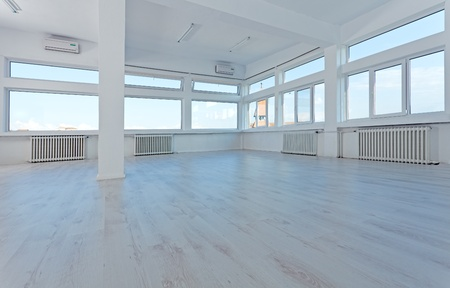 Photo for Empty generic office space with large windows to let - Royalty Free Image