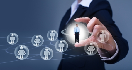 Social networking concept - business uses of social media