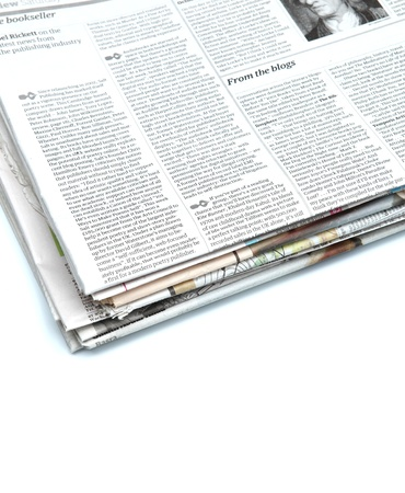 Close up of a newspaper