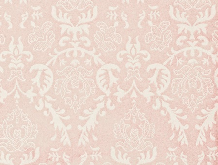 light pink vintage background with damask-like ornamental pattern