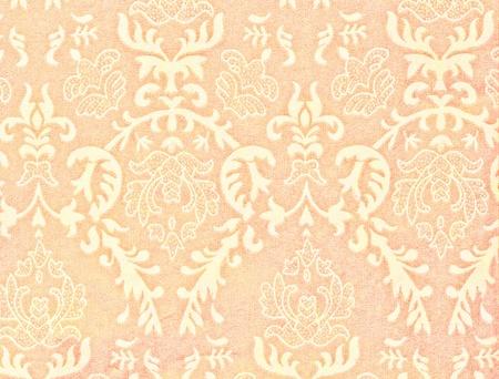 light orange vintage background with damask-like ornamental pattern