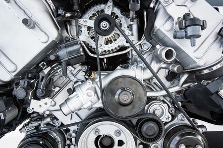 Car Engine - Modern powerful car engine(motor unit - clean and shiny