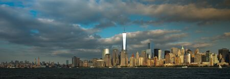 Photo for A view of Lower Manhattan from Liberty State Park - Royalty Free Image