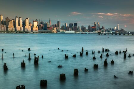 Photo for Lower Manhattan View from New Jersey - Royalty Free Image