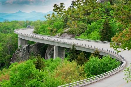 The Linn Cove Viaduct. Part of the Blue Ridge Parkway near Grandfather Mountain, North Carolina.