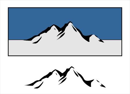 Illustration pour Mountain Design - image libre de droit