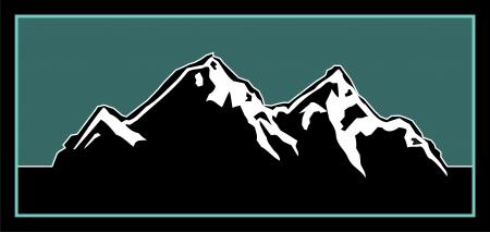Illustration pour Logo element for an outdoorsy mountain logo  - image libre de droit