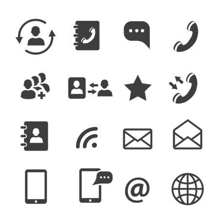 Illustration pour Media and web communication icons set - image libre de droit