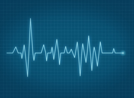 ECG pulse heartbeat life sign blue line