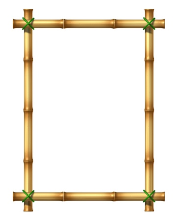 Bamboo sticks blank frame