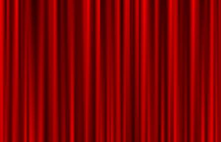 Illustration pour Velvet red curtain abstract background. Vector illustration. - image libre de droit