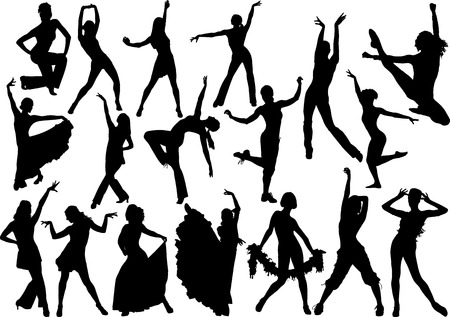 Illustration for Dance silhouette - Royalty Free Image