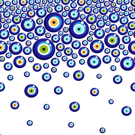 Illustration pour Evil eye vector pattern. - image libre de droit
