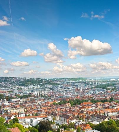 View of Stuttgart city, Germany  european city landscape