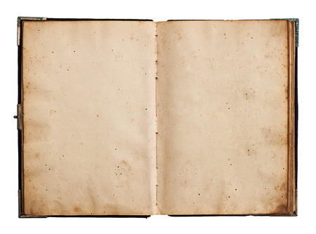 open old book isolated on white background with clipping path