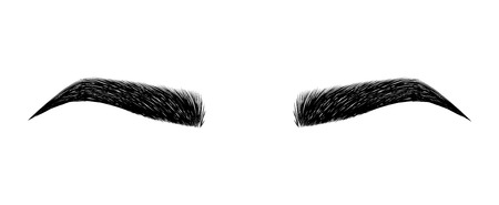 Illustration pour eyebrow perfectly shaped. permanent make-up and tattooing. Cosmetic for eyebrows. Beauty salon. - image libre de droit